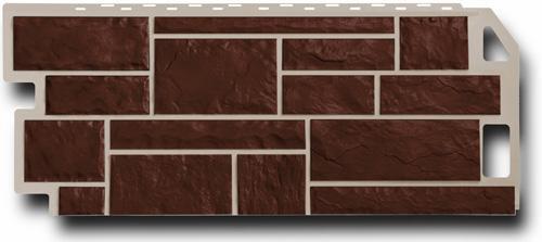 Цокольный сайдинг FineBer - серия Камень - коричневый