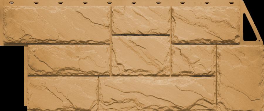 Цокольный сайдинг FineBer - серия крупный камень - песочный