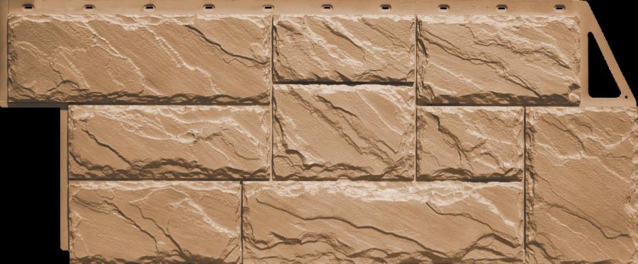 Цокольный сайдинг FineBer - серия крупный камень - терракотовый