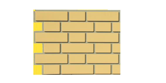 Цокольный сайдинг FineBer - серия Облицовочный кирпич - желтый